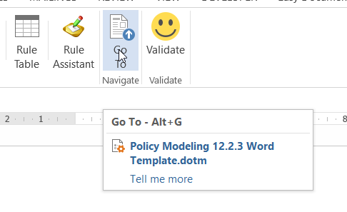 Back to Basics 5 – Using the Go To Button in Oracle Policy Modeler