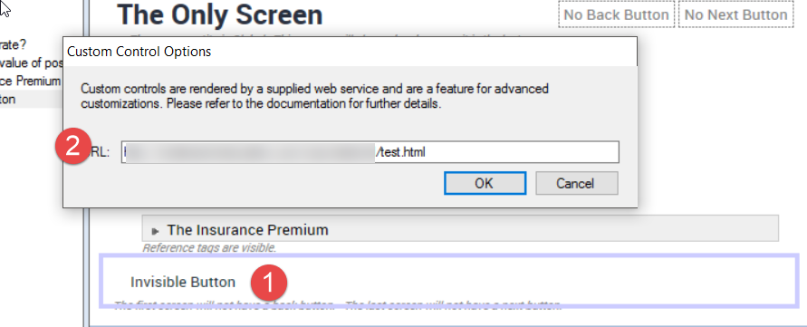 OPA 12 – Interview Screen with no Buttons