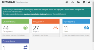 What's New in Oracle Policy Automation August 2017 - New Hub Theme