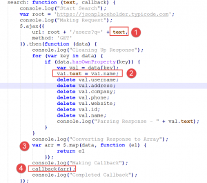 JavaScript Custom Search Script