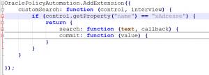 JavaScript Custom Search