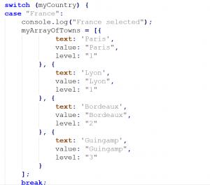 Oracle Policy Automation - JavaScript Custom Options - Code Array Creation
