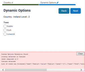 Oracle Policy Automation - JavaScript Custom Options - Result Example One