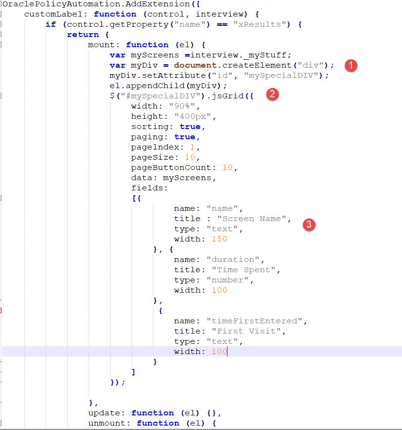 JavaScript Extension Custom Header as a Timer 5
