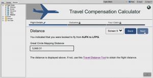 OPA 12 - Travel Compensation JavaScript Label Extension Distance