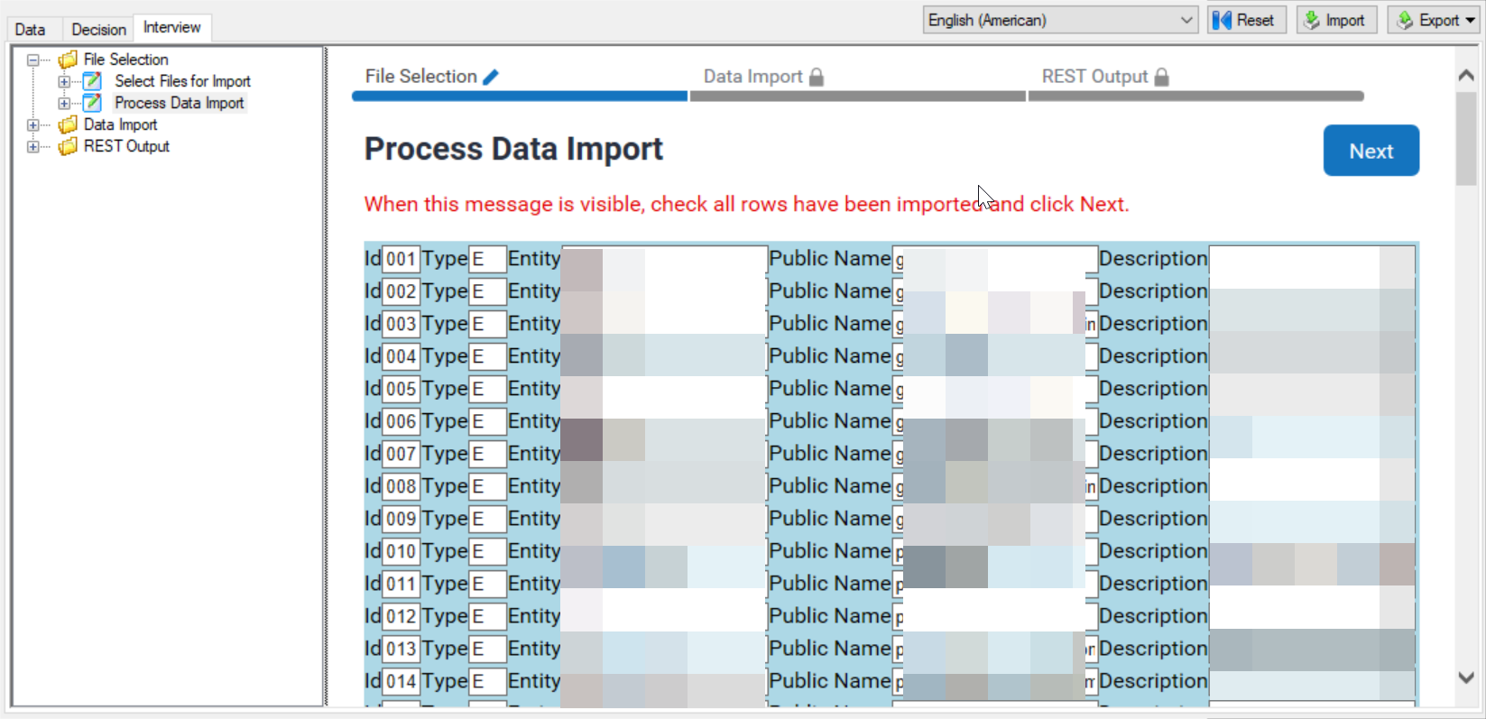 Importing Data into an Interview : Excel Example