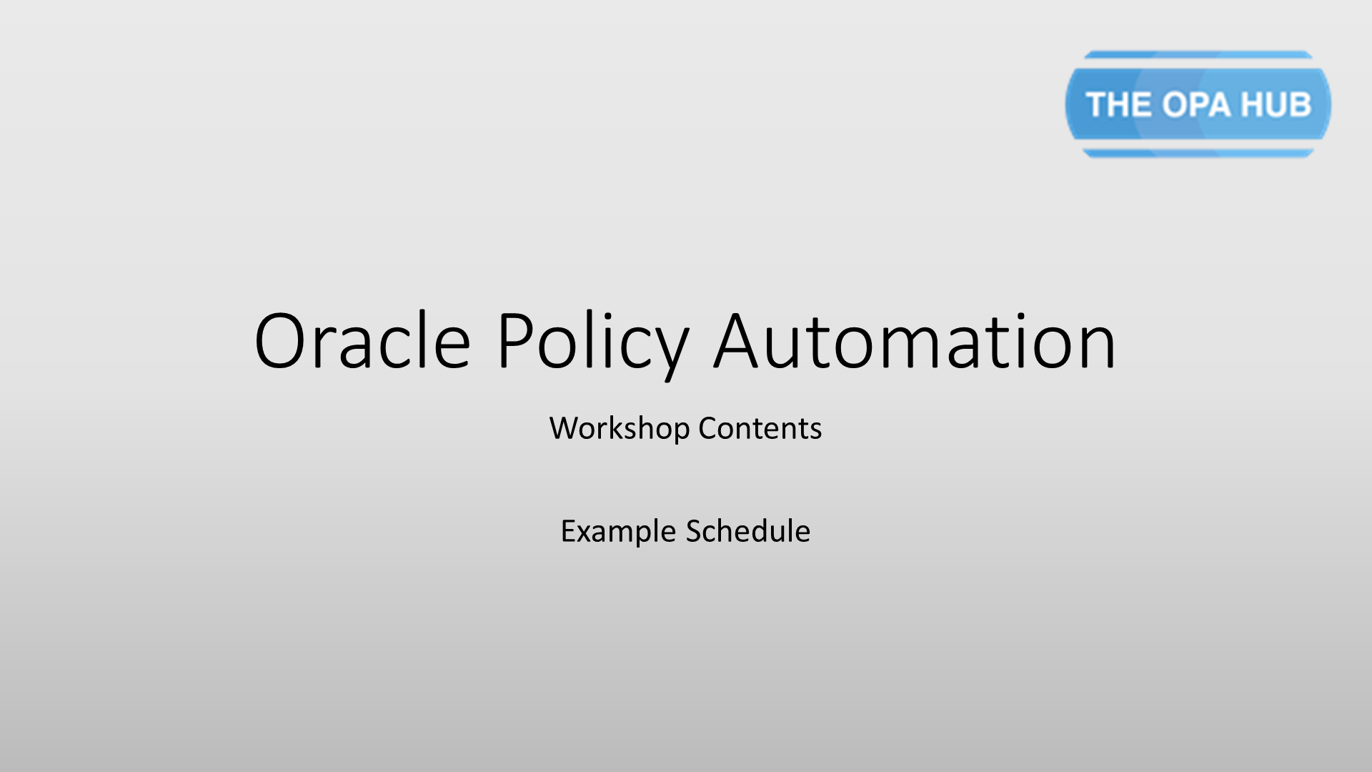 Oracle Policy Automation Cloud 2019 Certification