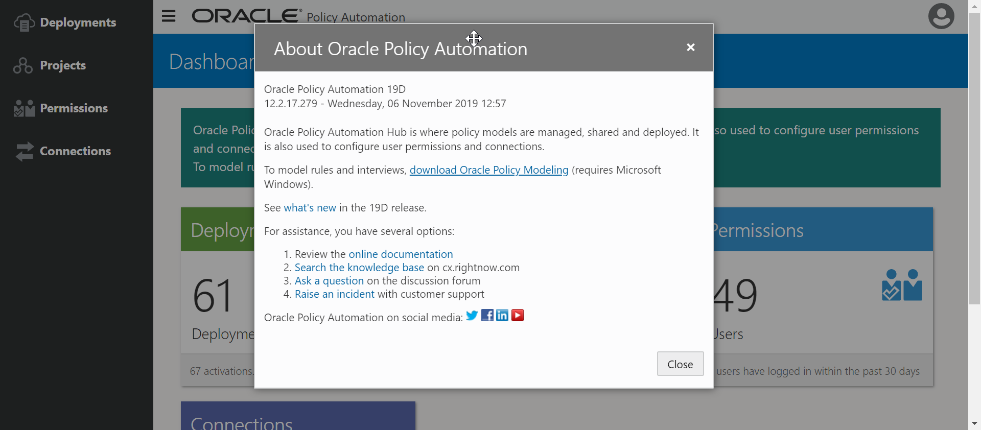 Whats New in Oracle Policy Automation 19D?