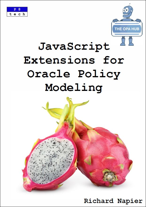 JavaScript Extensions for Oracle Policy Modeling