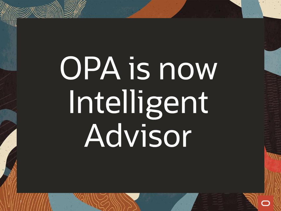 Oracle Intelligent Advisor