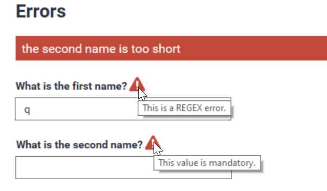Errors – Show Immediately and On Navigate