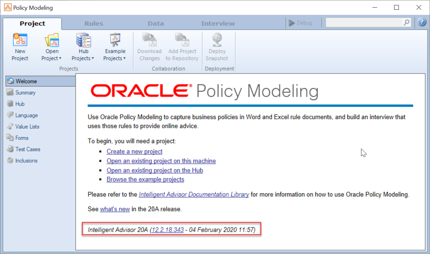 Whats New in Oracle Intelligent Advisor 20A?