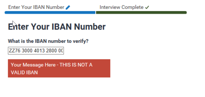 Input Validation in an Input Extension – IBAN Validation