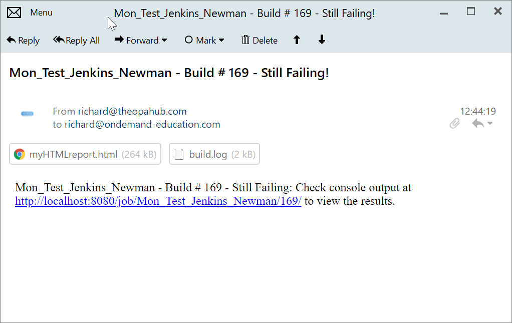 Jenkins Email 5