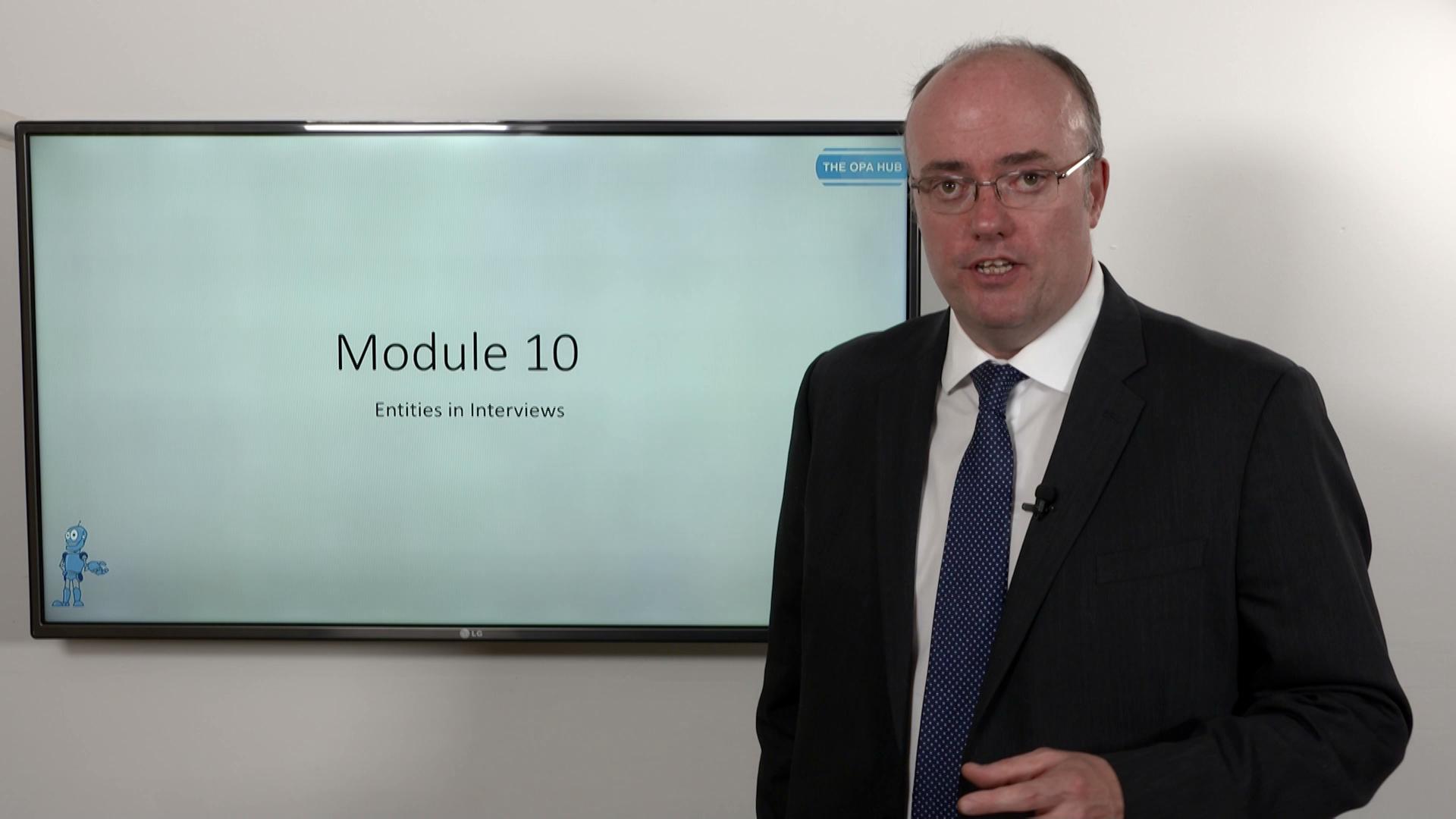 Training - Module 10