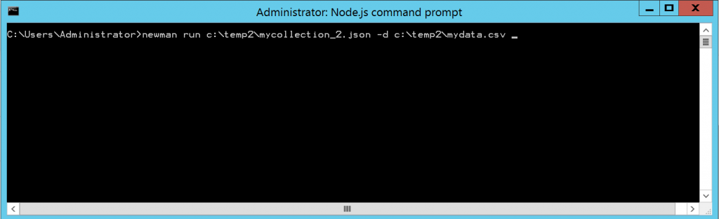 Newman Command Line