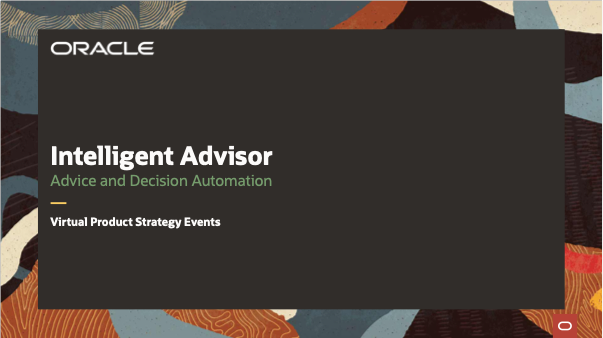 Intelligent Advisor 2020 Virtual Product Strategy Events – APAC