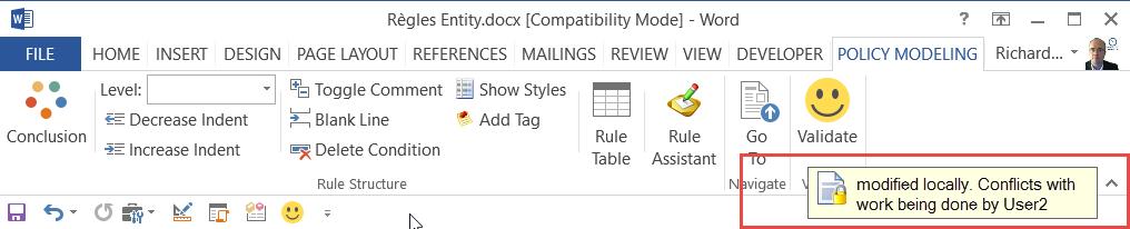Rule Design - Toolbar