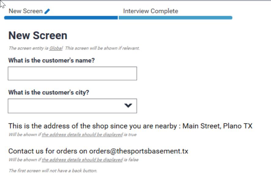 Intelligent Advisor Certification Question Type Example 3