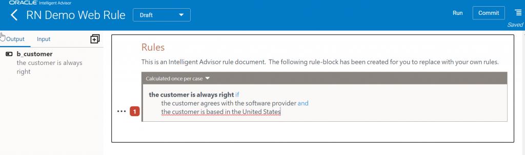 Intelligent Advisor New Feature - Web Contract