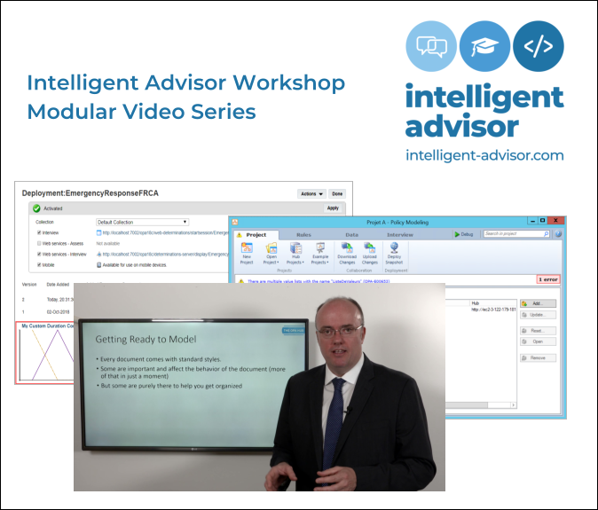 Intelligent Advisor Training - Video Workshop