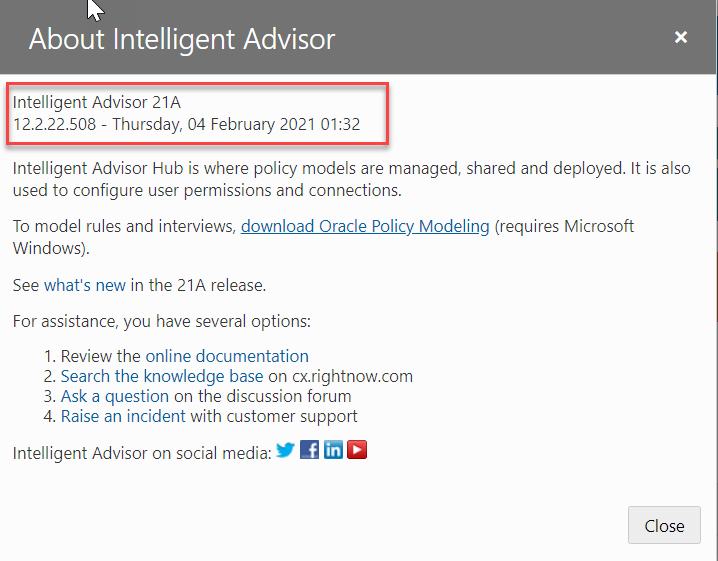 What's new in Intelligent Advisor 21A
