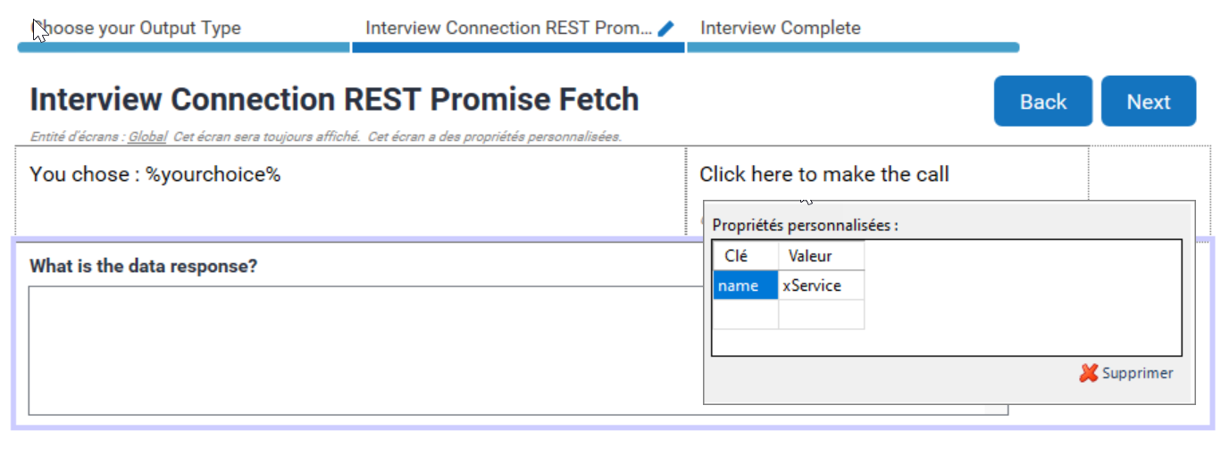 Interview.fetch() Example with a Promise