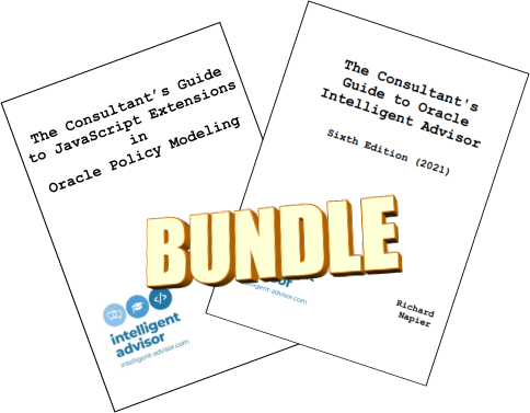 2021 Oracle Intelligent Advisor PDF Bundle Consultants Guide to JavaScript Extensions for Oracle Policy Modeling 2021