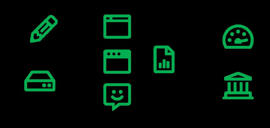 Oracle Intelligent Advisor Adoption - Functionality Icons